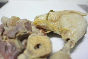 Pollo y jamón del cocido