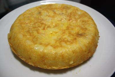 La tortilla de patata terminada