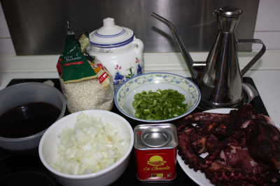 Ingredientes arroz de pulpo