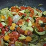 Pochamos las verduras en la sartén