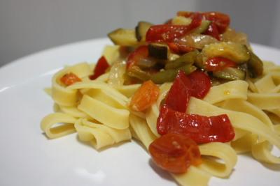 Tagliatelli con verduras