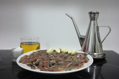 ingredientes de boquerones en vinagre