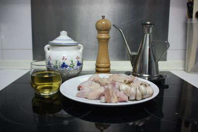 Ingredientes de alitas de pollo al ajillo