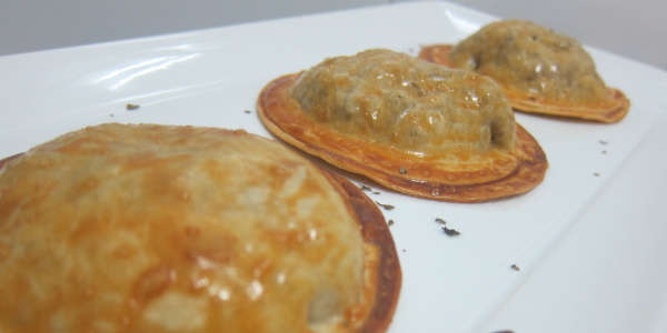 Empanadillas de setas (versión light)